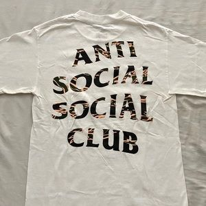 Anti Social Social Club Tiger Camo White Tee Shirt
